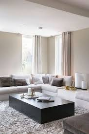 modern living room furniture designs. Clean Modern Living Room With Light Taupe Walls And Curtains Furniture Designs R