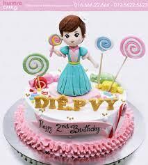Bánh gato sinh nhật kẹo ngọt nhiều màu tặng bé gái 4687 - Bánh fondant