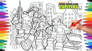 Teenage Mutant Ninja Turtles Tmnt Coloring Pages 2 How To Draw