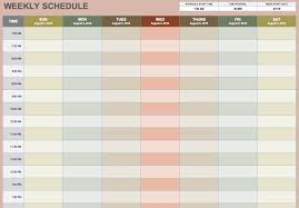 Microsoft Schedule Templates Free Weekly Schedule Templates For Word 18 Monthly Work Calendar Tem
