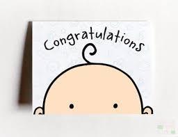 Congratulations Baby Card Congrats Baby Card Congrats Etsy