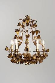 italian vintage hollywood regency chandelier