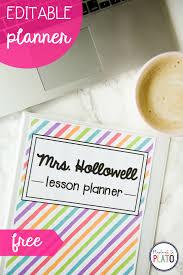 Free Teacher Planner Playdough To Plato