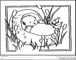 Smart Idea Baby Moses Coloring Page 31 With Free Pages Printable For