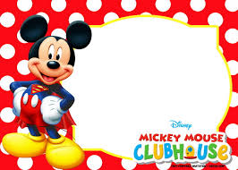Mickey Mouse 1st Birthday Invitations Template Templates