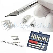 Steel 6/<b>9</b>/13Pcs <b>Blade</b> Engraving Knife Handle <b>Wood Paper</b> Cutter ...