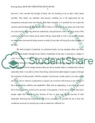 Examples Of Strengths My Personal Strengths Essay Example Topics And Well