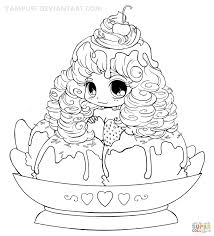 Better Yampuff Food Coloring Pages Chibi Ice Cream Girl P On Just
