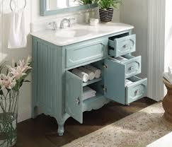 42 Bathroom Vanities Adelina 42 Inch Antique Cottage Bathroom Vanity Light Blue Finish