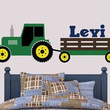 tractor wall decal john deere inspired wall decal boys bedroom decal u2026 on john