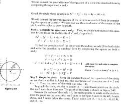 6 graph circles whose equations are written in general form