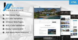 Real Estate Website Templates Classy Hexo Premium RealEstate HTML Template By Digitalcenturysf