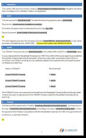 Rental Statement Form Residential Tenancy Agreement Victoria Vic Rental Agreement