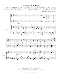 Easter Medley Anthem Lights Sheet Music An Easter Medley By Amy J Van Dyk Satb