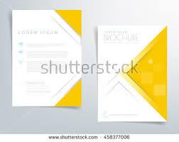 paper flyer yellow brochure template flyer design vector stock vector