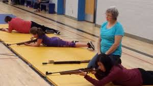 cindy crow of yorkton was the range safety officer during a biathlon peion held at kamsack on september 30 for kamsack and canora air cadets