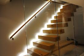 led stairwell lighting. Led Stairs Lighting Design : Floating Staircase Architecture With LED Flexible Strip Stairwell I