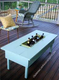 Table Drinks Cooler Built Patio Table With Cooler Remodelaholic Build A Patio Table