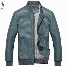 mens ralph lauren jackets sky blue leather 5