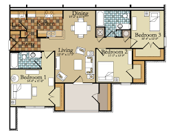 table graceful 3 bedroom apartment floor plans 1 free house bedroom apartment floorplan 26x34