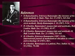 talk on ramanujan 66 references iuml131152 k ramachandra srinivasa ramanujan