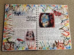 22 10 14 gcse david white artist research page sketchbook ideas