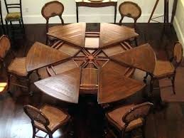 expanding round table. Dining Room Tables Expandable Expanding Circular Table Remarkable With Regard To Round Idea 8 S