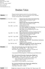 5 6 Electrical Engineering Resume Templates Free Download