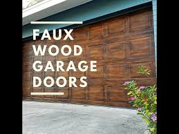 faux wood garage doors. Faux Wood Garage Door Tutorial No Oil Based Paint With LACustom Art |  PiePiePinup Faux Wood Garage Doors O