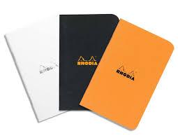 A7 Size Rhodia A7 Pocket Size Rhodia Side Stapled Orange Black Writing