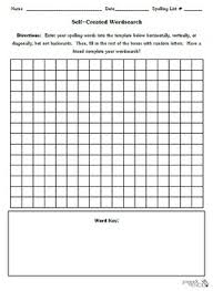 Blank Self Created Word Search Template Spelling Vocabulary Tpt
