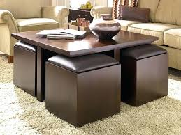 coffee table with stools and storage coffee table round coffee