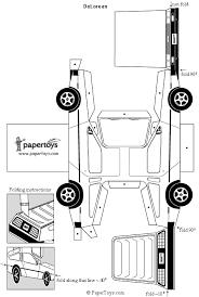 delorean paper cutouts by papertoys com