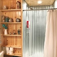 diy corrugated metal shower paulatisch com diy glavanized metal shower