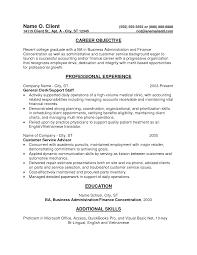 Resume Profile For Recent College Graduate Oneswordnet