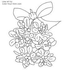 Small Picture New Christmas coloring page Mistletoe in a bow Coloring Pages Blog