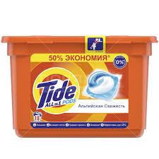 <b>Капсулы для стирки Tide</b> Альпийская свежесть, 18 шт, 24.8 г в ...