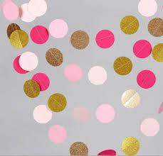 Gold Birthday Decorations Aliexpresscom Buy 10 Feets Pink Gold Paper Garland Metallic