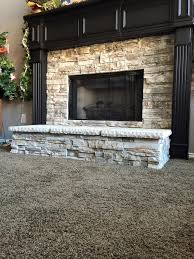 fireplace remodel with dry stack stone veneer