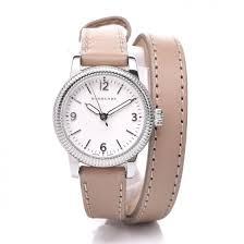 burberry stainless steel calfskin 30mm bu7847 double wrap watch beige 352456