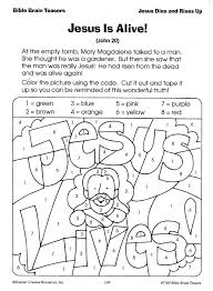 Easter Christian Color By Number Sunday School Coloring Pages