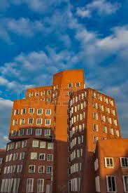 postmodern architecture gehry. DUSSELDORF, GERMANY- NOVEMBER 8, 2011: Gehry Buildings In Duesseldord, Germany. Postmodern Architecture 2