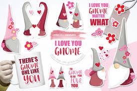 Check out our free gnome svg selection for the very best in unique or custom, handmade pieces from our papercraft shops. I Love You Gnome Graphic By Prettygrafik Creative Fabrica Christmas Svg Valentine Decorations Gnomes