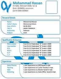 Resumes Formate Expin Memberpro Co Sample New Resume Format 2012