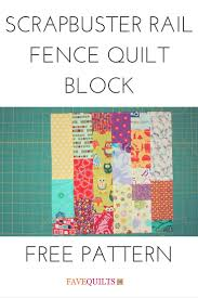 15 best Rail Fence Quilt Patterns images on Pinterest | Quilt ... & Use up your scrap fabric with this rail fence quilt block pattern Adamdwight.com