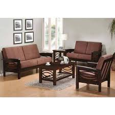 Designer Wooden Sofa Set With Table AK Steel Furniture Delhi ID