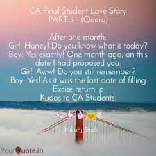 Student Of The Month Quotes Ca Final Student Love Sto Quotes Writings By Nikunj