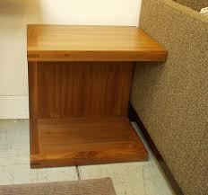 calistoga c style side table or night stand custom sizes available shown in solid walnut at 700