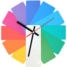 <b>Часы настенные Transformer Clock</b>. White & Multicolor купить ...