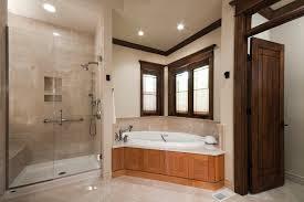 kohler shower pan bathroom traditional with corner windows crown molding